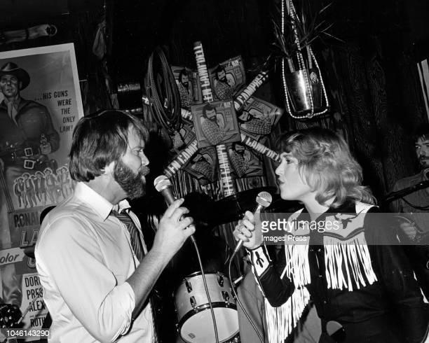 Glen Campbell and Tanya Tucker circa 1983 in New York City
