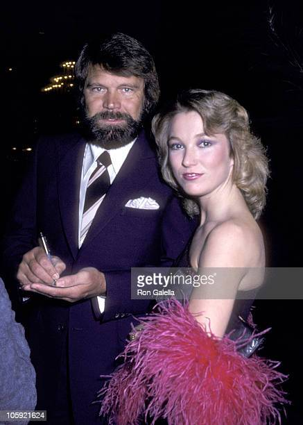 Glen Campbell and Tanya Tucker during Johnny Mathis 25th Anniversary Party 1981 at Beverly Hilton Hotel in New York New York United States