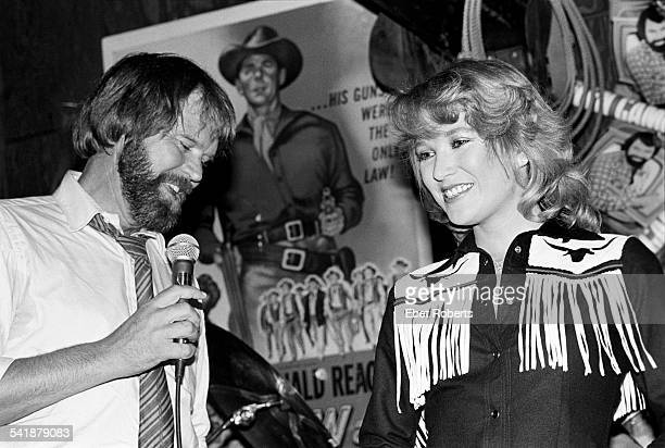 Glen Campbell and Tanya Tucker performing at Rodeo in New York City on January 22 1981
