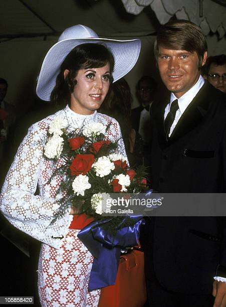 Glen Campbell and wife Billie Jean Nunley during Honor America Day at Washington DC in Washington DC United States
