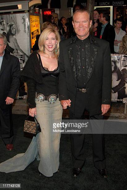 Glen Campbell and Wife Kim Campbell during Country Takes New York City Presents Walk The Line Premiere at Beacon Theater in New York City New York...