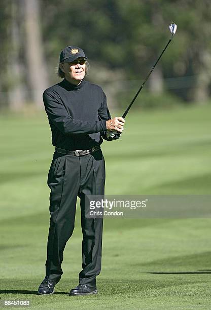 Glen Campbell during the first round of the ATT Pebble Beach National ProAm on Spyglass Hill Golf Course in Pebble Beach California on February 9 2006