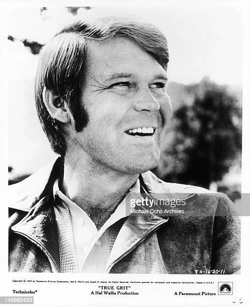Glen Campbell smiling in a scene from the film 'True Grit' 1969