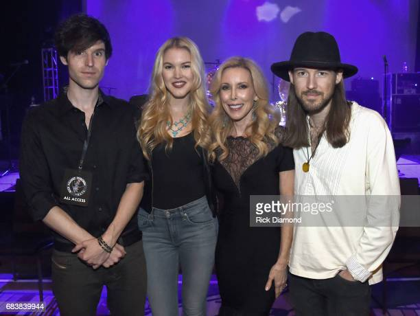 Glen Campbell's Daughter and Sons Recording Artists Shannon Campbell Ashley Campbell and Cal Campbell Glen's Wife Kim Campbell during Music Biz 2017...