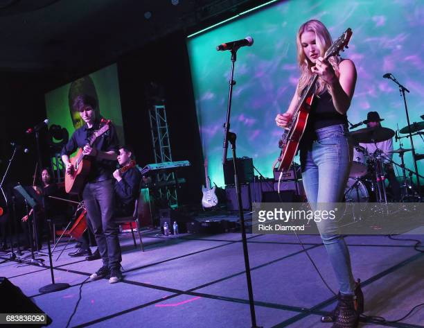 Glen Campbell's daughter and sons Singers/Songwriters L/R Shannon Campbell Ashley Campbell and Cal Campbell performs during Music Biz 2017 Industry...