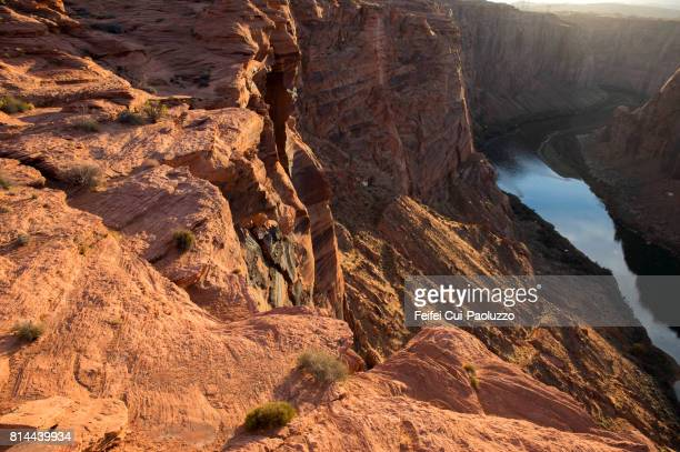 Glen Canyon Dam and Lake Powell in Arizona, Coconino County, USA