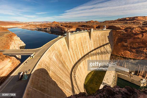 glen canyon dam at page, arizona - hoover dam stock photos and pictures