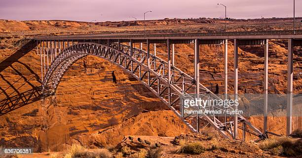 Glen Canyon Dam Bridge Against Sky
