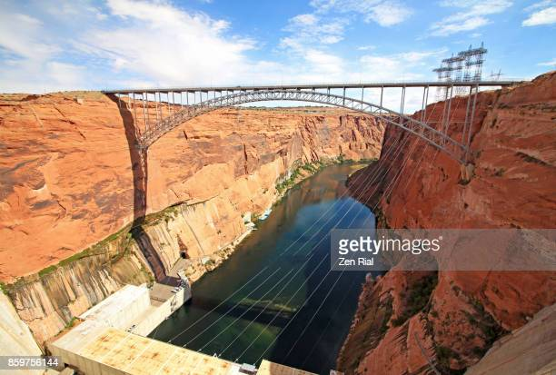 Glen Canyon Dam Bridge over the Colorado River in Arizona, USA
