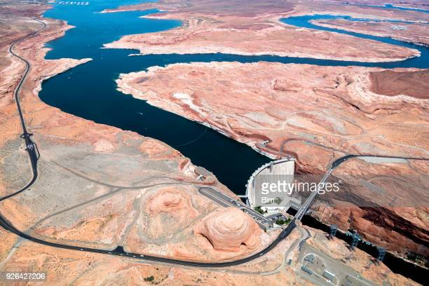 Glen Canyon Dam, Colorado River, Aerial View, Arizona, USA