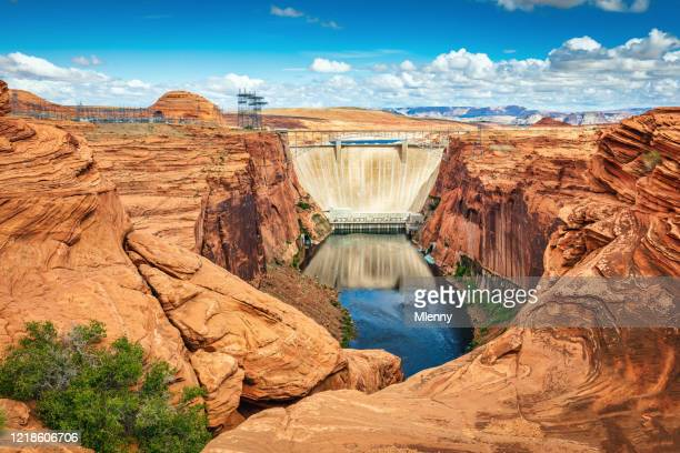 glen canyon dam colorado river page arizona, usa - colorado river stock pictures, royalty-free photos & images