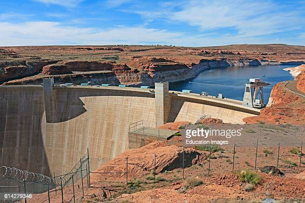 Glen Canyon Dam on the Colorado River near Page Arizona