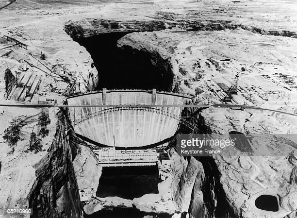 Glen Canyon Dam Under Construction In Colorado In 1964