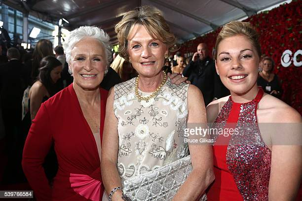 Glen Close Madeleine Gurdon and Isabella Lloyd Webber attend the 70th Annual Tony Awards Arrivals at Beacon Theatre on June 12 2016 in New York City