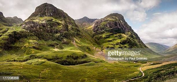 glen coe & the west highland way - schotland stockfoto's en -beelden