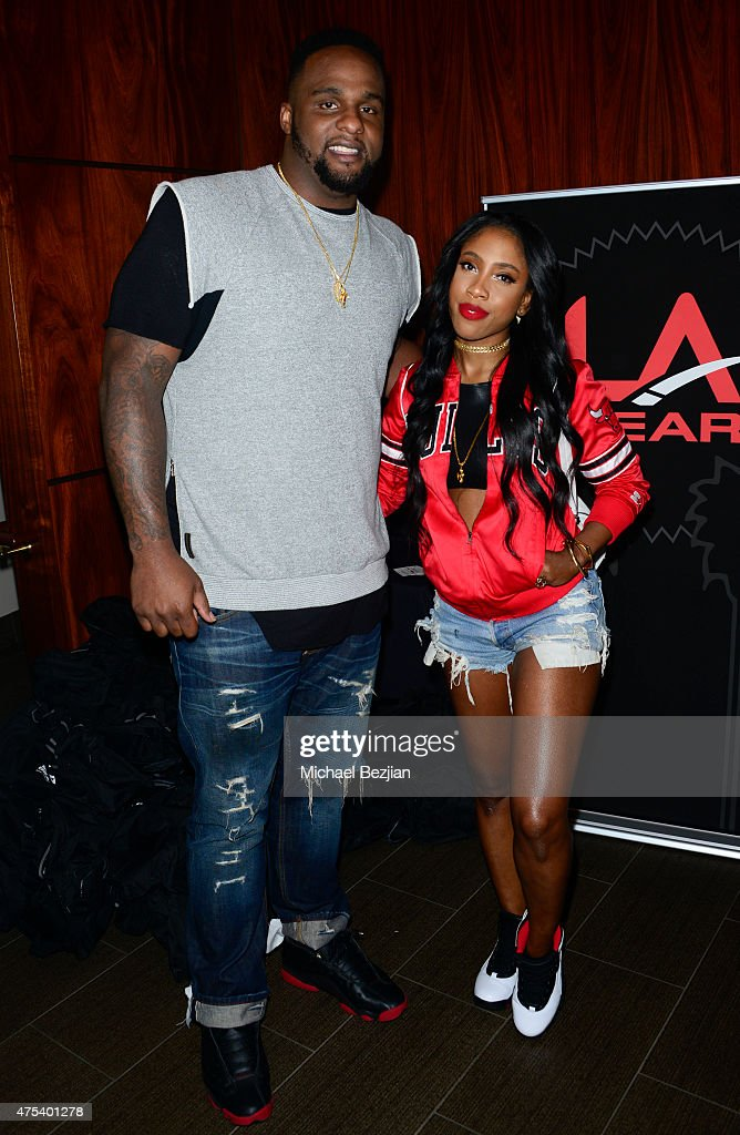 Glen Davis and Sevyn Streeter attend LA Gear Presents Sports Spectacular Charity Basketball Game Hosted By Tyga on May 30, 2015 in Los Angeles, California.