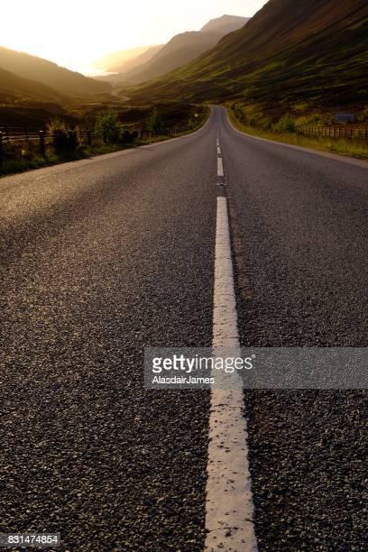 Glen Docherty road at dusk