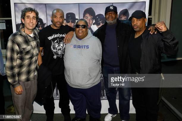 "Glen E. Friedman, Darryl ""DMC"" McDaniels, Doctor Dre, Chuck Chillout, and Chuck D attend a signing for Glen E. Friedman's ""Together Forever: The..."