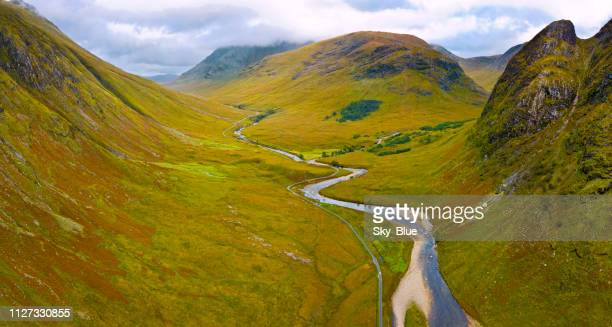 glen etive, scottish highlands - valley stock pictures, royalty-free photos & images