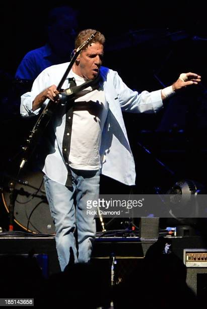 Glen Frey of the Eagles performs during 'History Of The Eagles Live In Concert' at the Bridgestone Arena on October 16 2013 in Nashville Tennessee