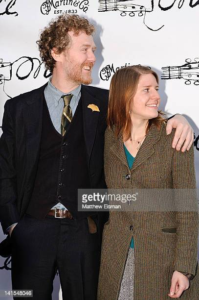 Glen Hansard and Marketa Irglova arrive at the Once Broadway opening night at The Bernard B Jacobs Theatre on March 18 2012 in New York City