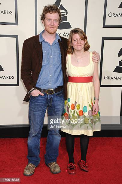 Glen Hansard and Marketa Irglova arrive to the 50th Annual GRAMMY Awards at the Staples Center on February 10 2008 in Los Angeles California