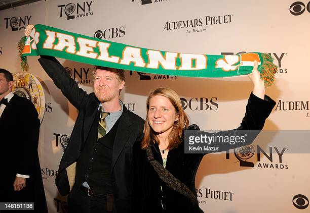 Glen Hansard and Marketa Irglova attend the 66th Annual Tony Awards at The Beacon Theatre on June 10 2012 in New York City