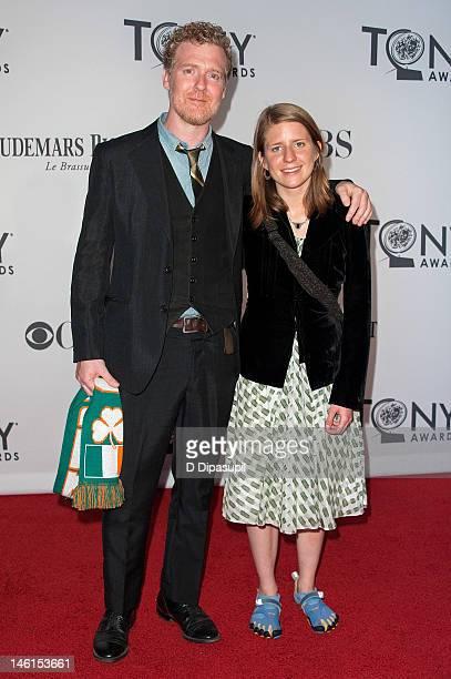 Glen Hansard and Marketa Irglova attend the 66th Annual Tony Awards at the Beacon Theatre on June 10 2012 in New York City