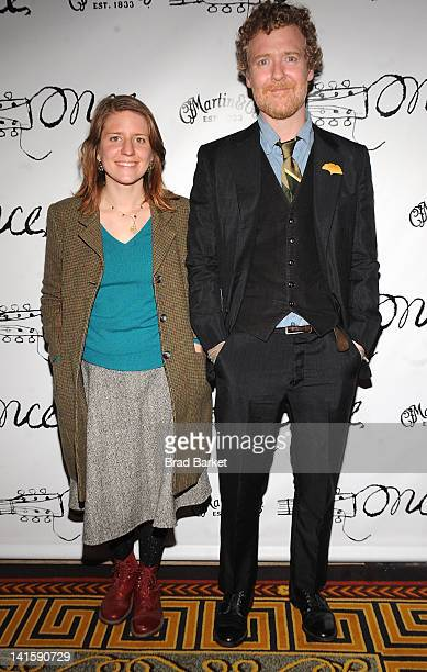 Glen Hansard and Marketa Irglova attend the after party for the Once Broadway opening night at Gotham Hall on March 18 2012 in New York City