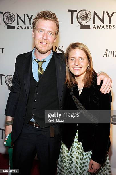 Glen Hansard and Markéta Irglová of The Swell Season attend the 66th Annual Tony Awards at The Beacon Theatre on June 10 2012 in New York City