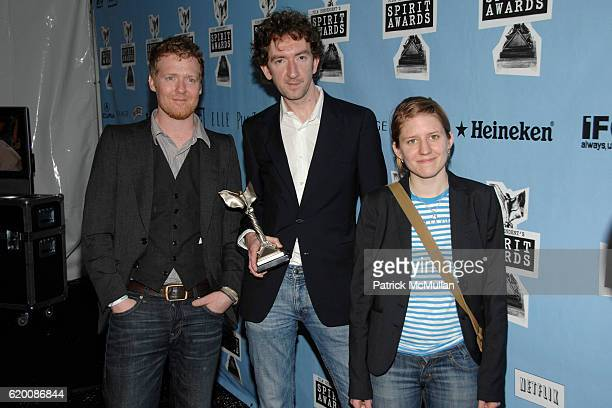 Glen Hansard John Carney and Marketa Irglova attend FILM INDEPENDENT'S 2008 SPIRIT AWARDS hosted by IFC Pressroom at On The Beach on February 23 2008...