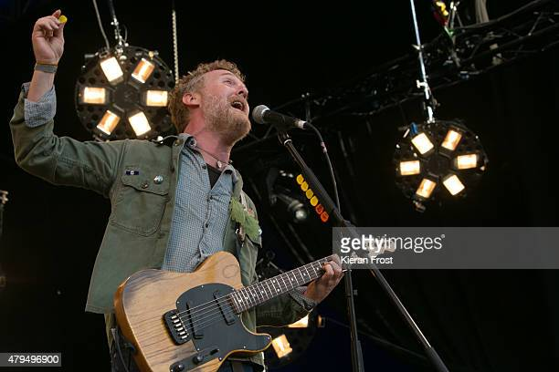 Glen Hansard of The Frames at Iveagh Gardens on July 4, 2015 in Dublin, Ireland.
