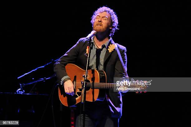 Glen Hansard of The Swell Season performs at Shepherds Bush Empire on January 14 2010 in London England