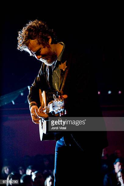 Glen Hansard of The Swell Season performs on stage at Sala Apolo on February 27 2010 in Barcelona Spain