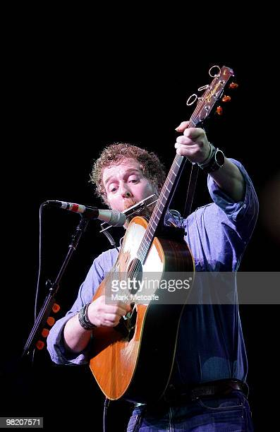 Glen Hansard of The Swell Season performs on stage during Day 2 of Bluesfest 2010 at Tyagarah Tea Tree Farm on April 2 2010 in Byron Bay Australia