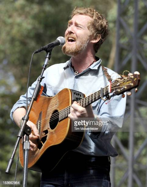 Glen Hansard performs as part of the Hardly Strictly Bluegrass Festival in Golden Gate Park on October 7 2012 in San Francisco California