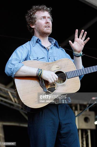 Glen Hansard performs on stage at the Fremantle Arts Centre on January 25 2009 in Perth Australia