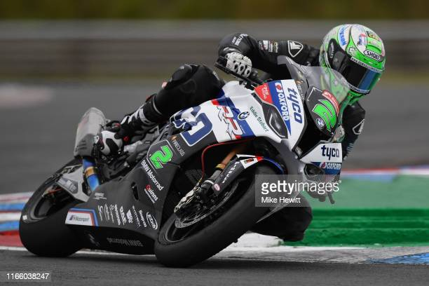 Glen Irwin of Northern Ireland in action during the British Superbikes Championships at Thruxton Circuit on August 04, 2019 in Andover, England.