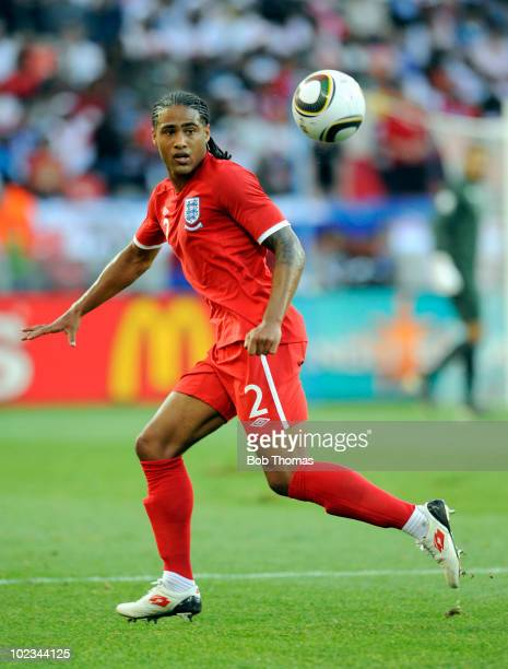 Glen Johnson of England during the 2010 FIFA World Cup South Africa Group C match between Slovenia and England at the Nelson Mandela Bay Stadium on...