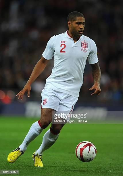 Glen Johnson of England in action during the FIFA 2014 World Cup qualifier group H match between England and Ukraine at Wembley Stadium on September...