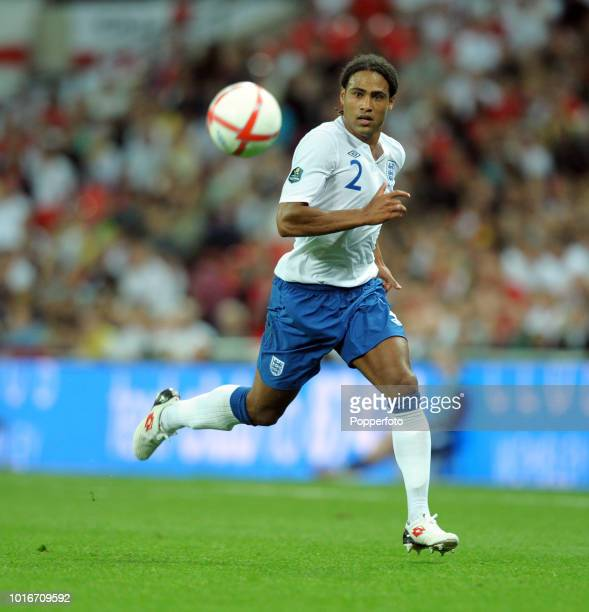 Glen Johnson of England in action during the UEFA EURO 2012 Group G Qualifying match between England and Bulgaria at Wembley Stadium in London on...