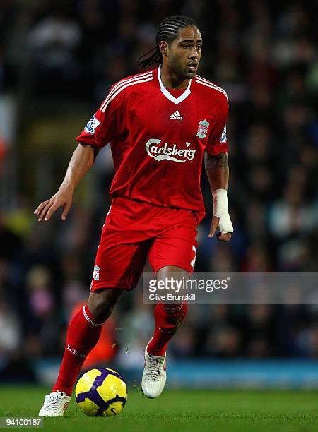 Glen Johnson of Liverpool in action during the Barclays Premier League match between Blackburn Rovers and Liverpool at Ewood Park on December 5, 2009...