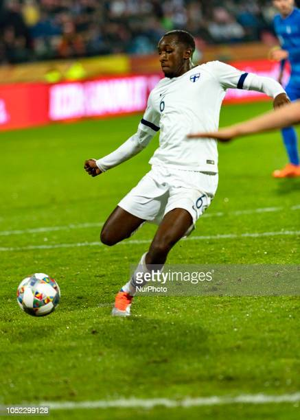 Glen Kamara of Finland during the UEFA Nations League group stage football match Finland v Grece in Tampere Finland on October 15 2018