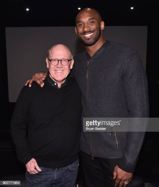 """Glen Keane and Kobe Bryant attend the """"Dear Basketball"""" screening and Q&A at The Landmark at 57 West on January 8, 2018 in New York City."""