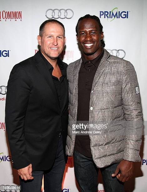 Glen Kelley Boston Common Publisher and Brandon Lloyd of the New England Patriots as Boston Common Magazine Celebrates Boston Fashion Week Lights...
