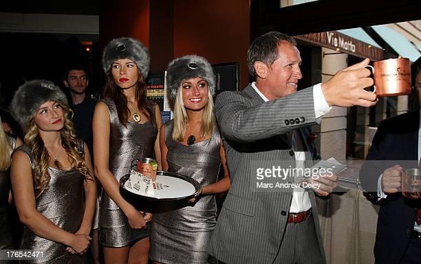 Glen Kelley Boston Common Publisher toasts guests as Boston Common Magazine and Russian Standard Vodka Celebrate Incredible Individuals at Via Matta...