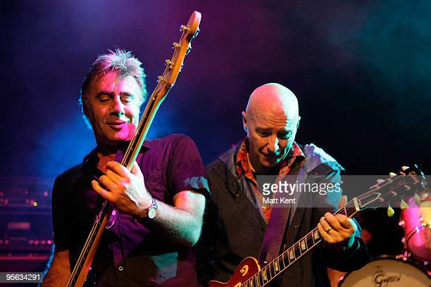 Glen Matlock and Midge Ure of Rich Kids perform at O2 Academy Islington on January 7 2010 in London England
