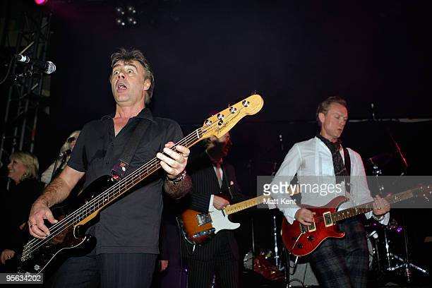 Glen Matlock Mick Jones and Gary Kemp perform with Rich Kids at O2 Academy Islington on January 7 2010 in London England