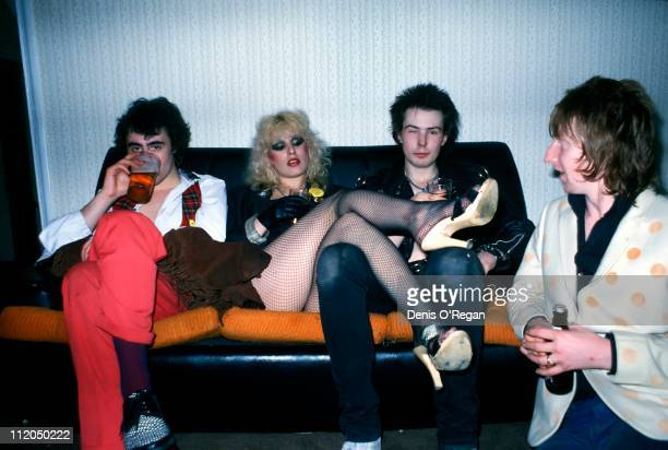 Glen Matlock Nancy Spungen Sid Vicious and Rat Scabies in London 1978