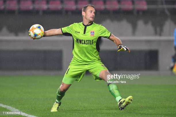 Glen Moss of Newcastle Jets in action during the AFC Champions League play off between Kashima Antlers and Newcastle Jets at Kashima Soccer Stadium...